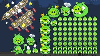 Bad Piggies - 100 PIGGIES ARE REAL! DO FUN THINGS TO THEM!