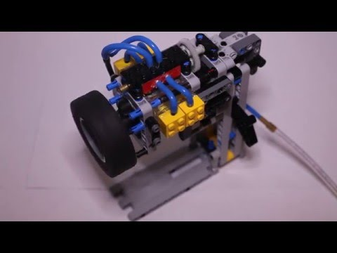 LEGO Pneumatic Engine slow speed test