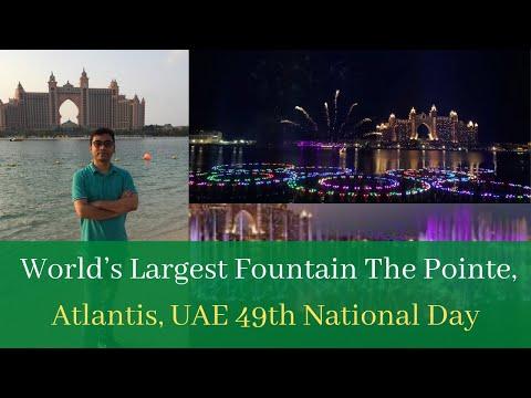UAE 49th NATIONAL DAY 2020 #World's Largest Fountain #The Pointe Atlantis || #DUBAI#UAE#The_Plam