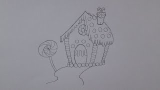 Como desenhar uma casa de gengibre
