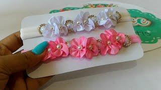 Faixa RN – Flor Esmeralda – Super luxo usando restinho de fita