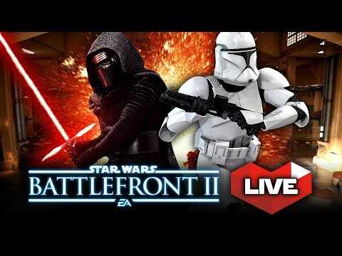 Star Wars Battlefront 2 LIVE STREAM! Epic Heroes, Clone Wars Battles, and Space Battles!