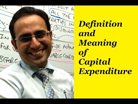 Definition and Meaning of Capital Expenditure