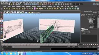 Maya 2013 intermediate modelling - Spitfire - 6 - Delete half the fuselage and duplicate an instance