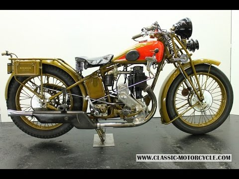 Motosacoche Model 413 1929 600cc - vintage motorcycle - start up
