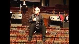 Gaither Homecoming singer/comedian Mark Lowry at the Tracy Stuffle benefit concert