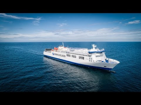 Ro-Ro/Passenger Ship Hammershus - 4K VIDEO