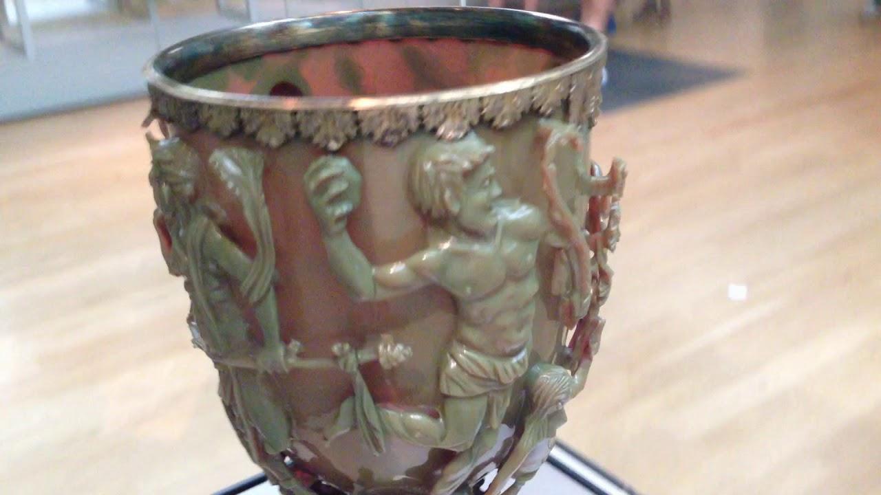 lycurgus cup The lycurgus cup shows that our ancestors were indeed far ahead of their time examination of the a 1,600-year-old roman chalice at the british museum, known as the lycurgus cup reveals ancient romans were familiar nanotechnology.