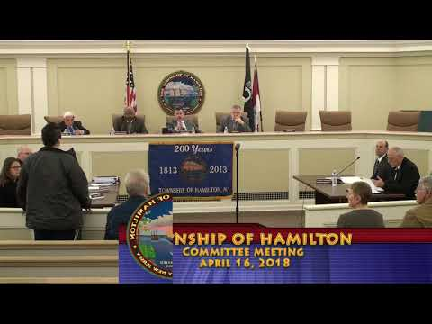 April 16, 2018 - Township of Hamilton Committee Meeting