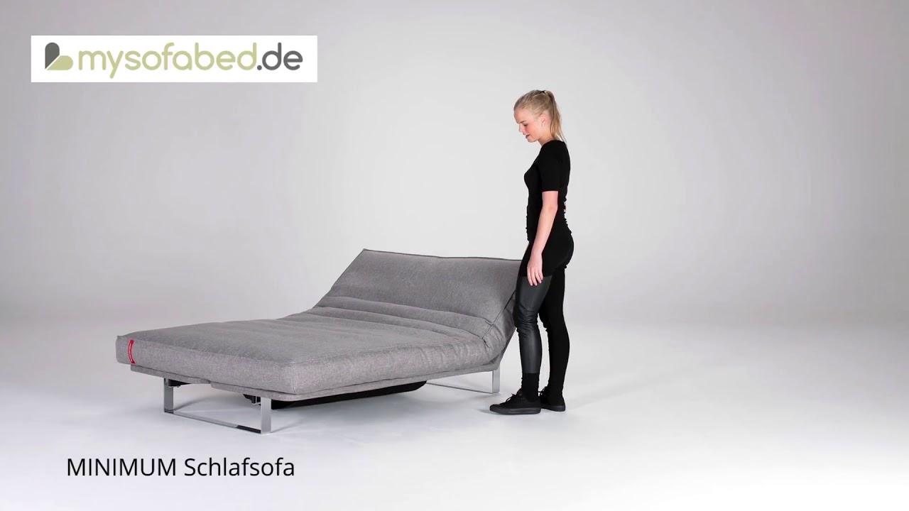 Minimum Von Innovation Schlafsofa Mit Matratze Und Lattenrost