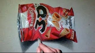 How i draw 3D realistic Chips Bag