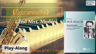 |109年學生音樂比賽|高中職組指定曲 1|Scaramouche – 2nd Mvt. / Darius Hilhuad /〈 伴奏音軌 〉( Backing Track )