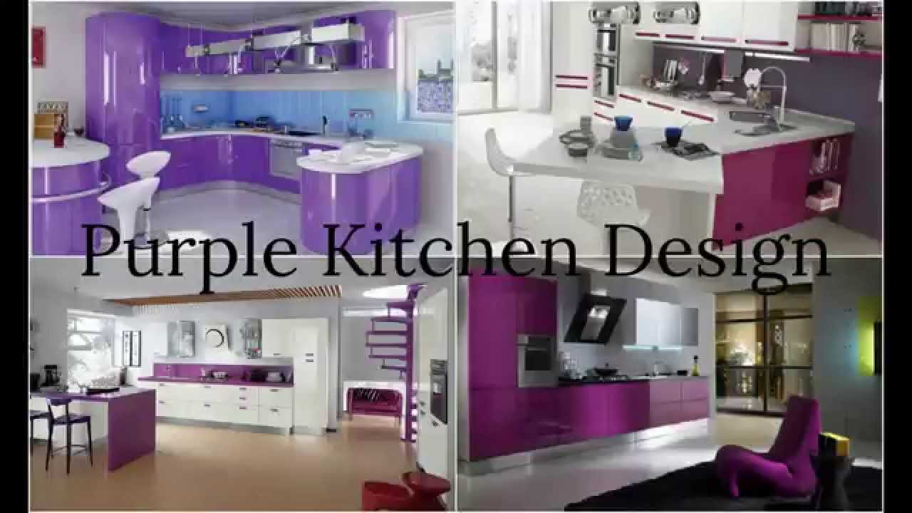 Purple Kitchen Design   YouTube