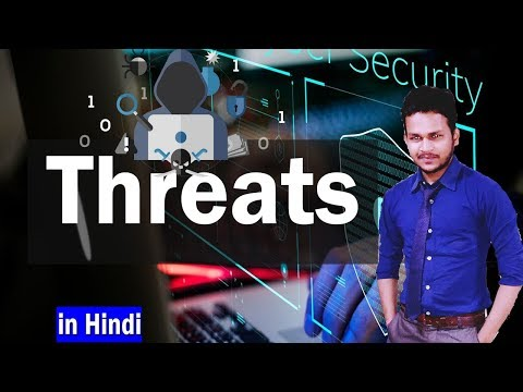 EP-14  What is Threats ? Types Of threats Network Security In hindi