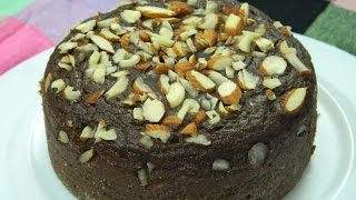 How To Make - Whole Wheat Chocolate Cake / Eggless Cooker Aatta Cake  - By Food Connection