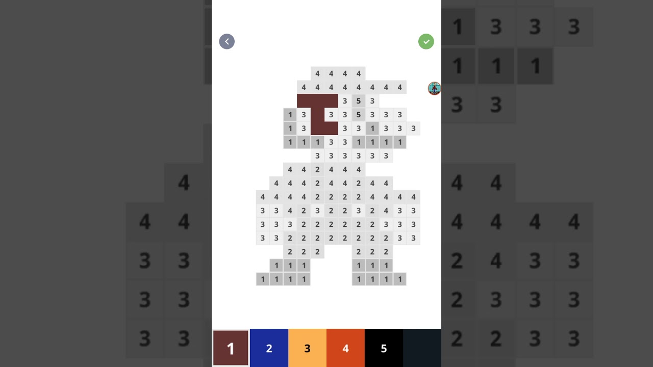 Coloring Super Mario On Color By Number