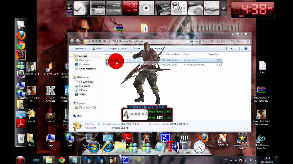 Descargar Trainer Para Resident Evil 4 - YouTube