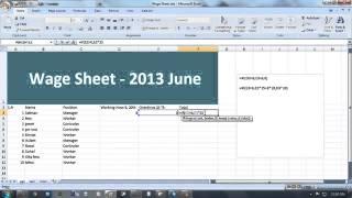 How To Make Wage Sheet Full Tutorial Bangla