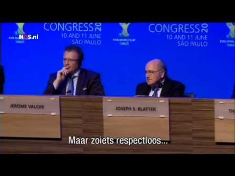 Blatter noemt Van Praag respectloos | NOS WK Voetbal