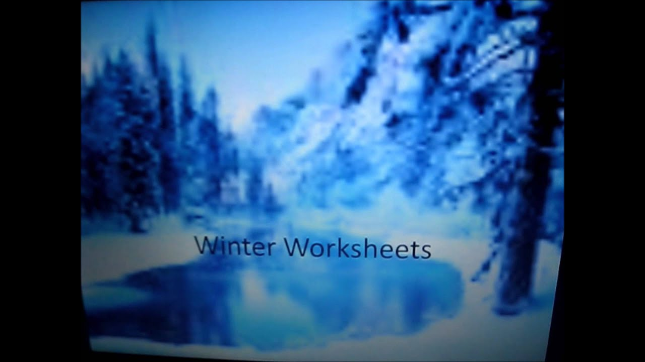 Winter Holiday Worksheets - YouTube