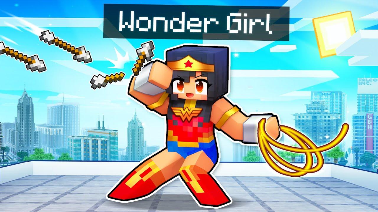 Saving My Friends As WONDER GIRL In Minecraft!