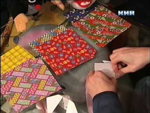Making Origami on the Mulius Show, Greenland TV