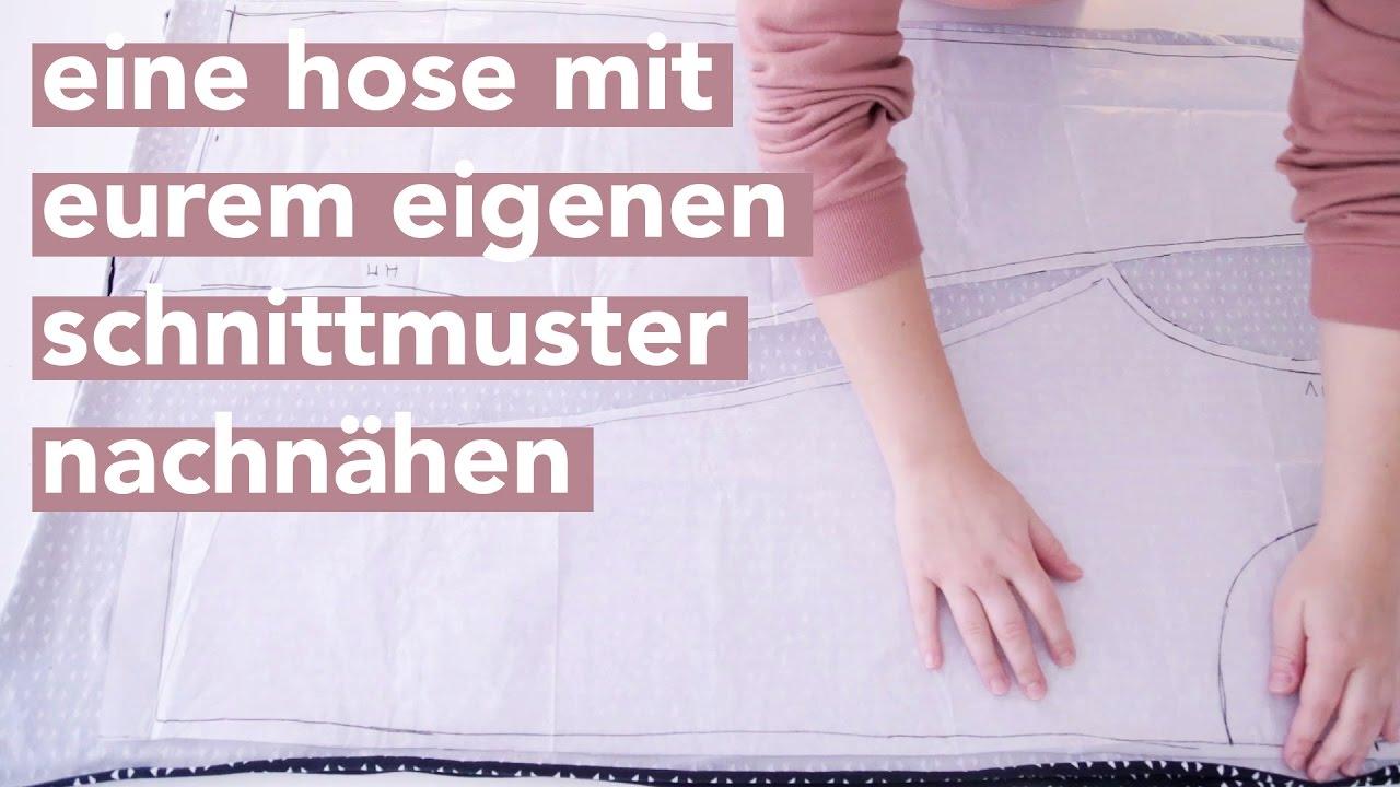DIY | Eine Hose mit eurem eigenen Schnittmuster nachnähen ...