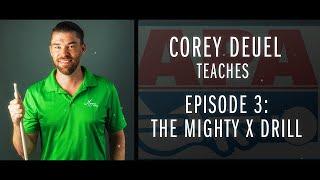 Corey Deuel - Ep 3 - Mighty X Pool Drill - Pool Tips - Billiard Training