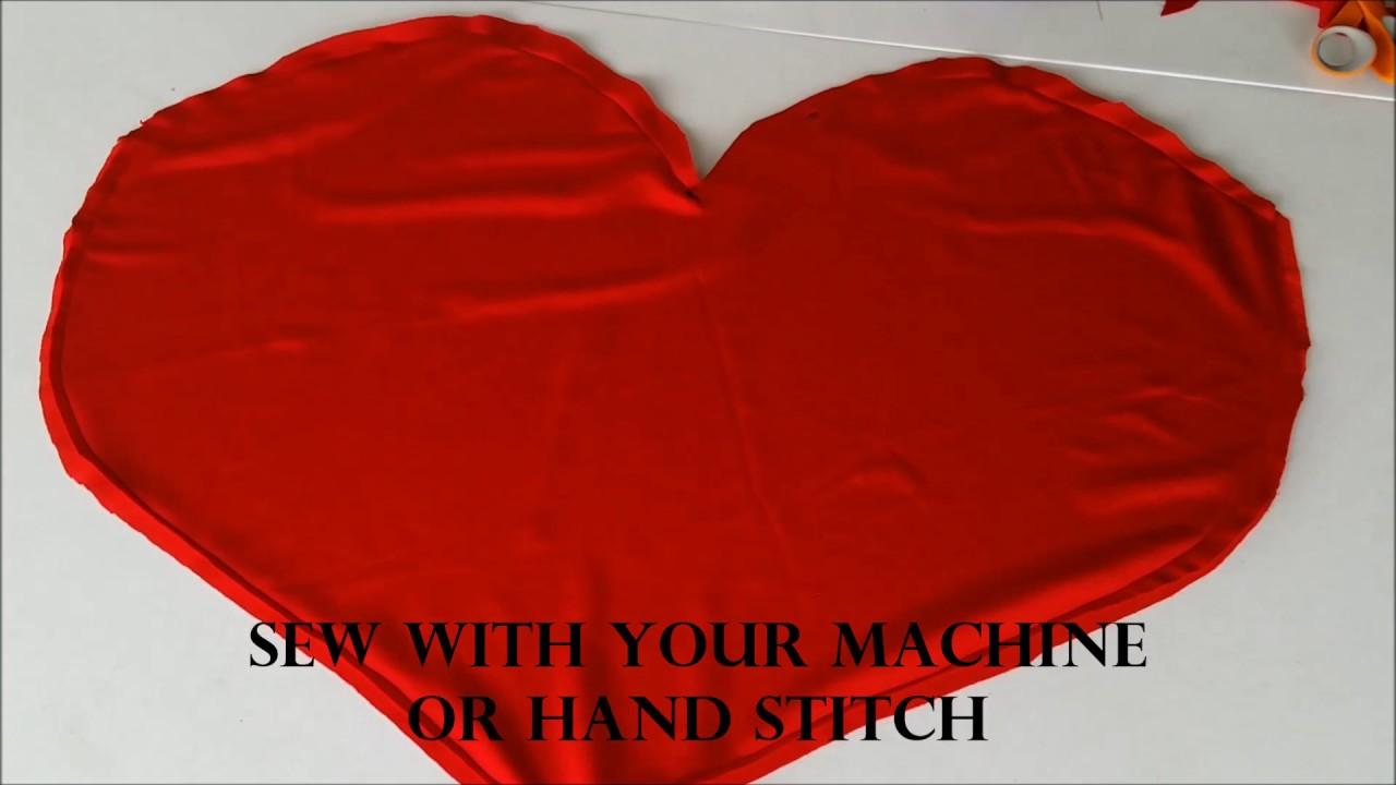 How To Make A Heart Shape Pillow