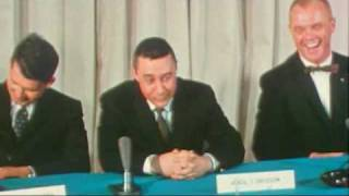 Press Conference Introducing 7 Mercury Astronauts 1959 Part 1/3