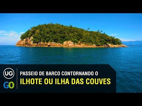Ilhota ou Ilhote das Couves - Passeio de barco contornando, com dicas e informações