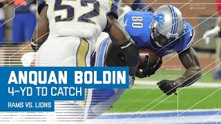 Golden Tate's Huge Catch Leads to Anquan Boldin's TD Catch! | Rams vs. Lions | NFL