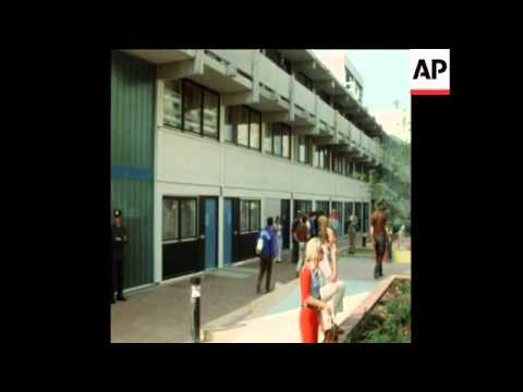 SYND 6-9-72 OLYMPIC VILLAGE SCENES FOLLOWING MASSACRE