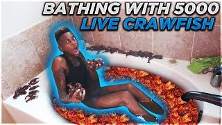 BATHING WITH 5000 LIVE CRAWFISH!!! (EXTREME)