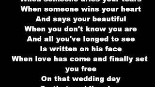 Casting Crowns Wedding Day Lyrics