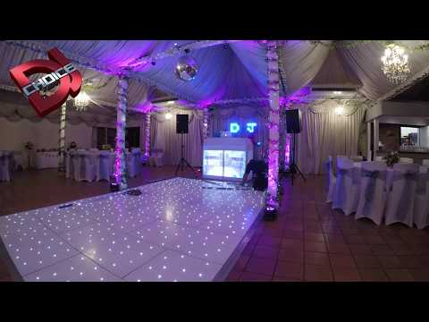 White Starlit Dance Floor + Video Booth Set Up - Port Lympne Wildlife Park