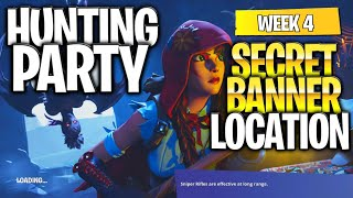 "Fortnite Battle Royale Season 6 Week 4 Secret Banner Location (""Hunting Party"" Challenges)"
