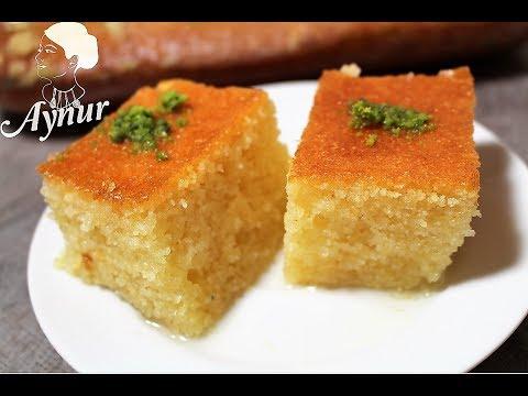 Türkische Klassiker REVANI Rezept I Grießkuchen Mit Zuckersirup I Klasik Revani Tatlisi