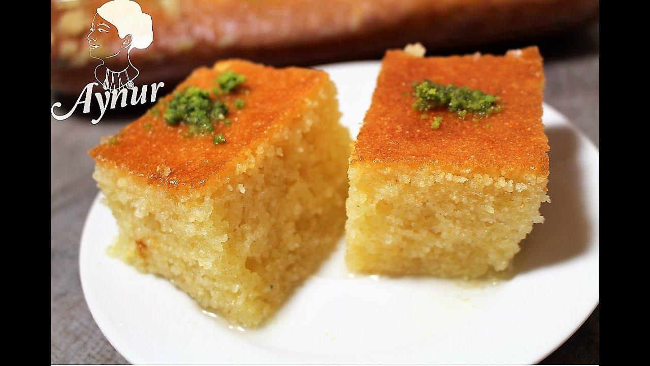 Turkische Klassiker Revani Rezept I Griesskuchen Mit Zuckersirup I