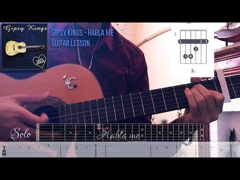 Gipsy Kings - Habla Me Guitar Lesson Solo - Rhythm