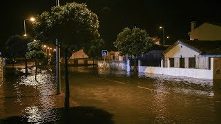 Hurricane Leslie 'Zombie' storm smashes into Portugal and Spain