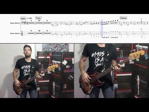 Se Ti Potessi Dire Vasco Rossi Bass Cover + Score/tab In Video