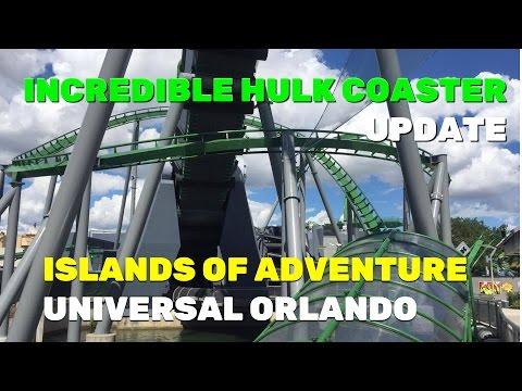 Incredible Hulk Coaster construction update, Islands of Adventure Universal Orlando (7-25-16)