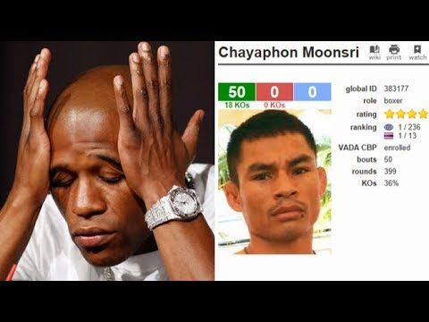 (A NEW TBE?) FLOYD MAYWEATHER'S RECORD IN DANGER AS THAI FIGHTER CHAYAPHON MOONSRI TIES 50-0