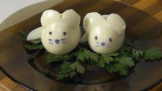 Как сделать мышку из яйца для праздничного стола