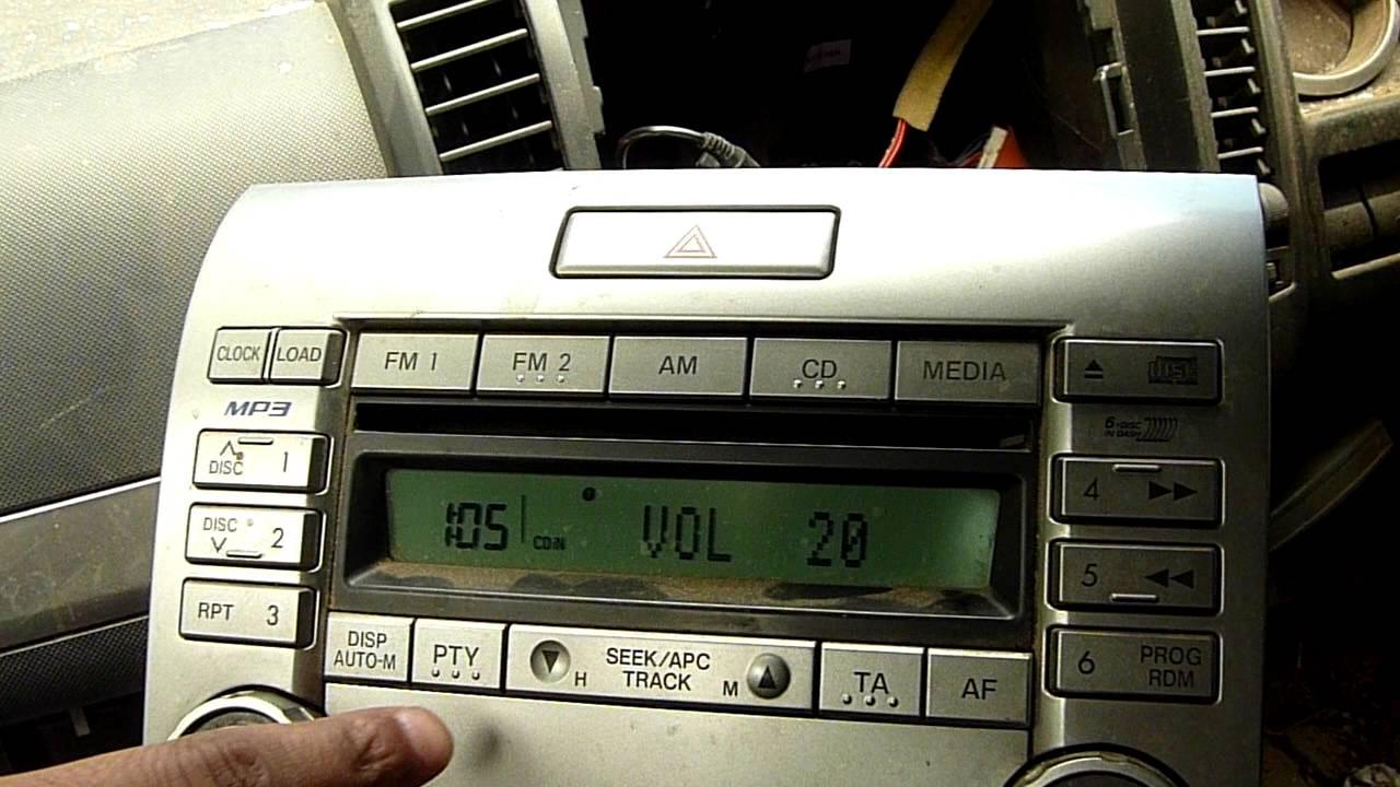 Ford Ranger Cd  Mp3 Player Panasonic Us16 66 Dsxa  Cq