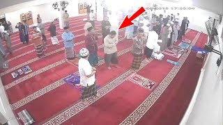 عندما يحدث الزلزال في المسجد... لن تصدق !!!