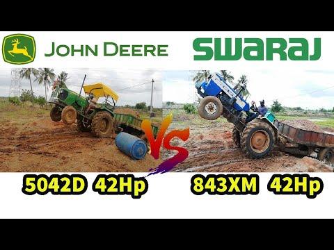 John Deere 5042D VS Swaraj 843xm