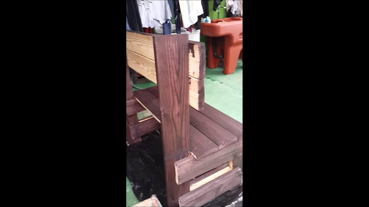 Banca con tablones de madera f cil de hacer youtube - Tablones de madera baratos ...