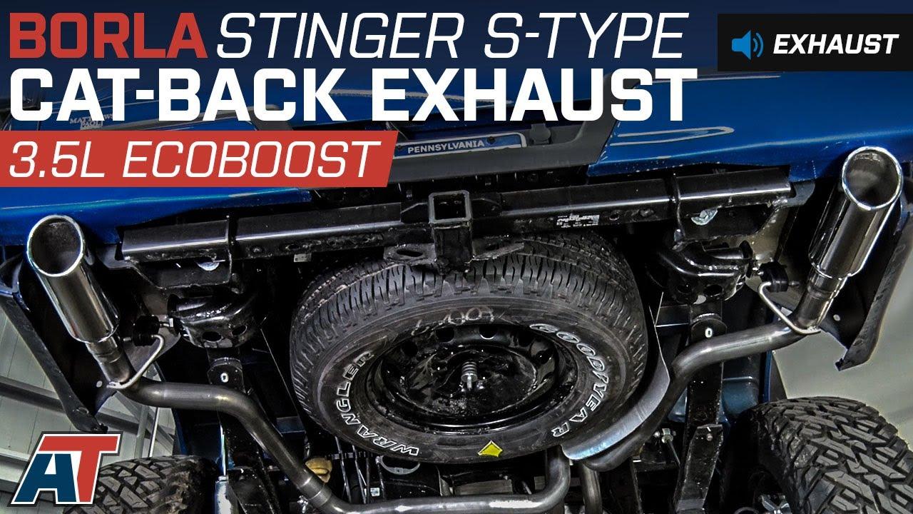 2015 2016 f150 borla stinger s type cat back exhaust 3 5l ecoboost sound clip install